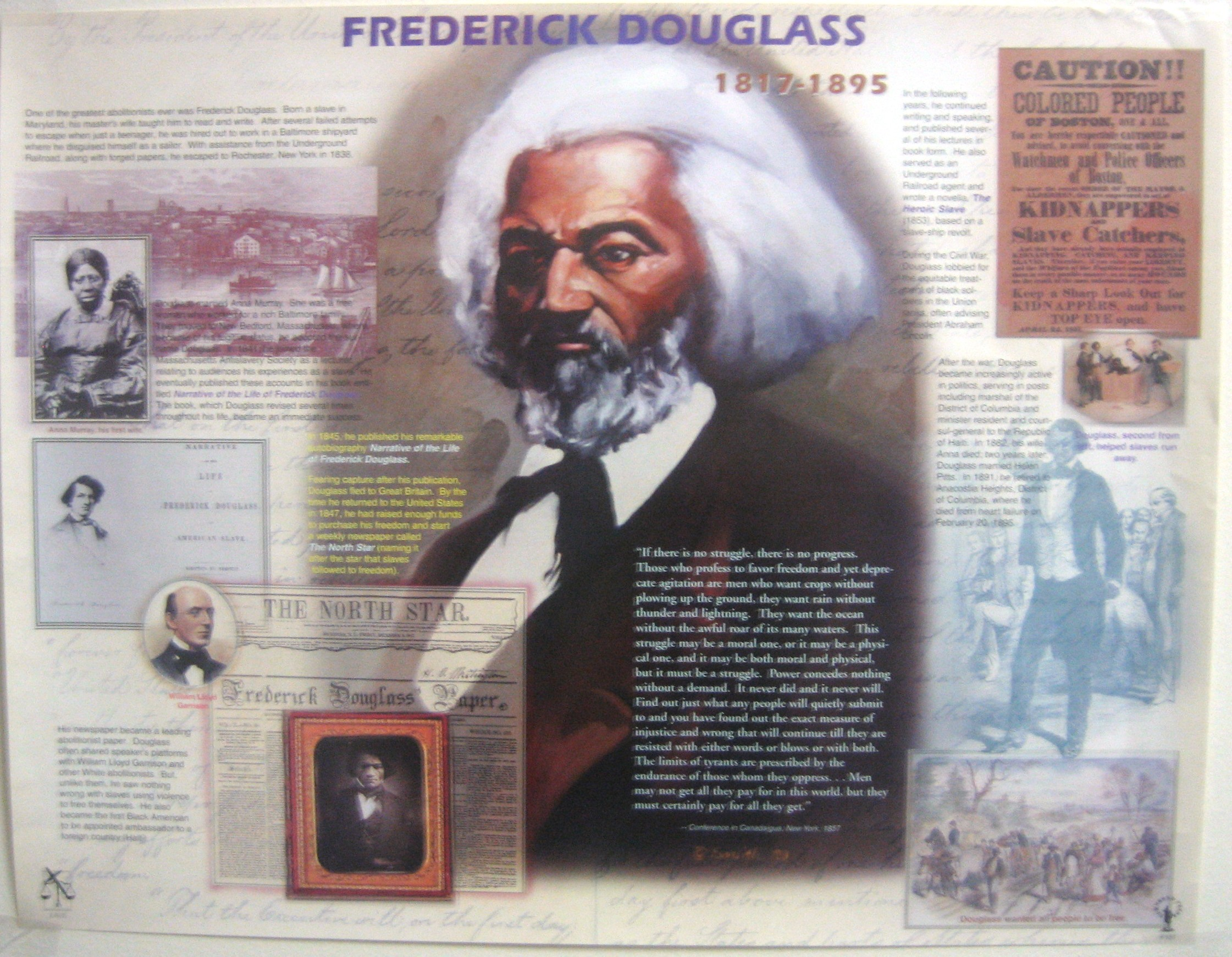 Jubilee Creations African American Heroes and Heroines: Frederick Douglass Poster