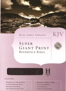 King James Version Super Giant Print Reference Bible