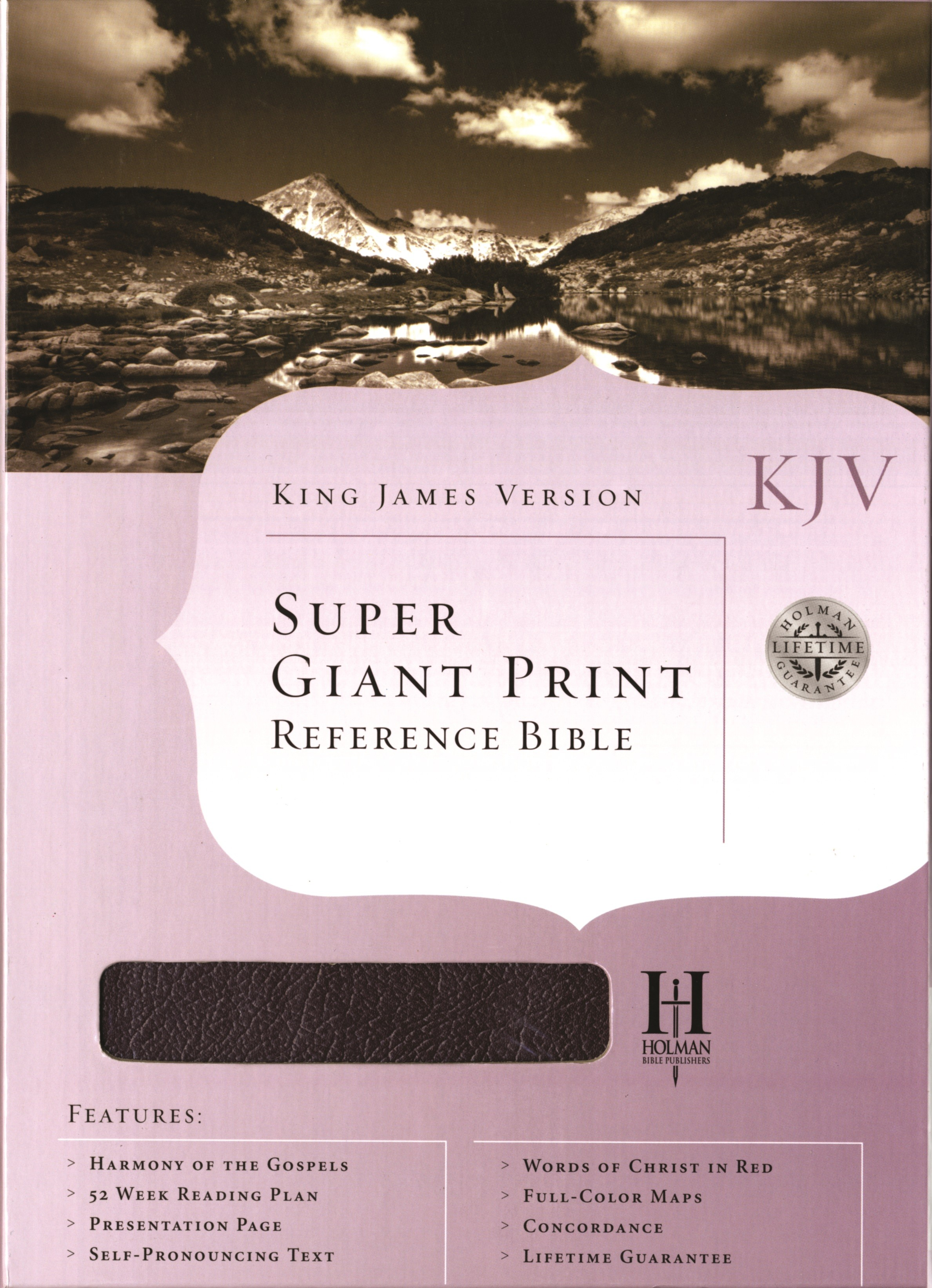 King James Version Super Giant Print Reference Bible (Black)