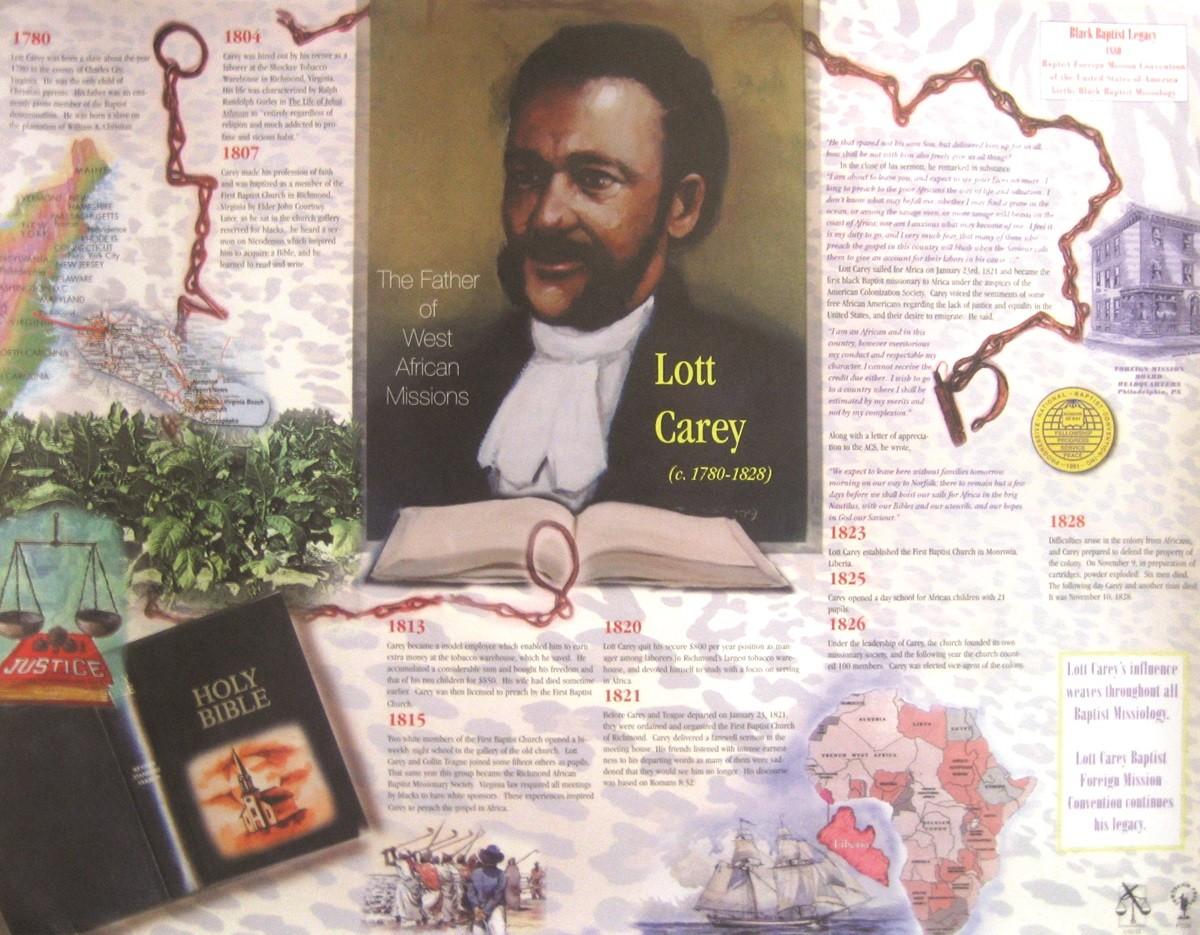 Jubilee Creations African American Heroes and Heroines: Lott Carey Poster