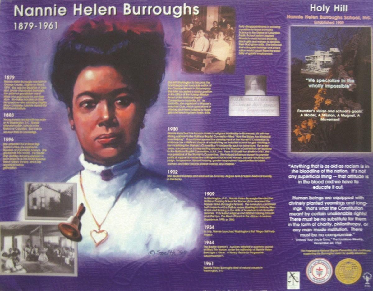 Jubilee Creations African American Heroes and Heroines: Nannie Helen Burroughs Poster
