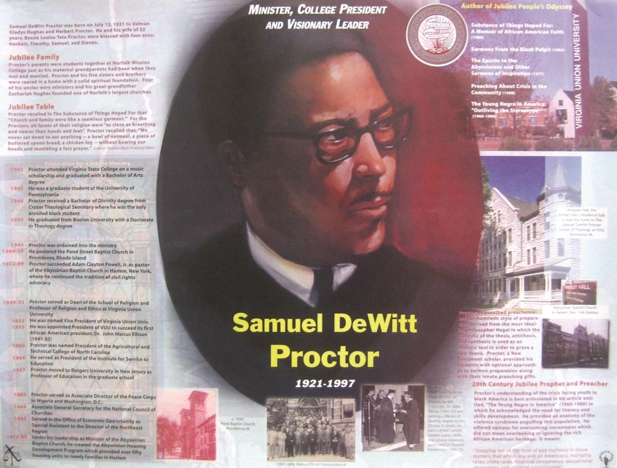Jubilee Creations African American Heroes and Heroines: Samuel DeWitt Proctor Poster