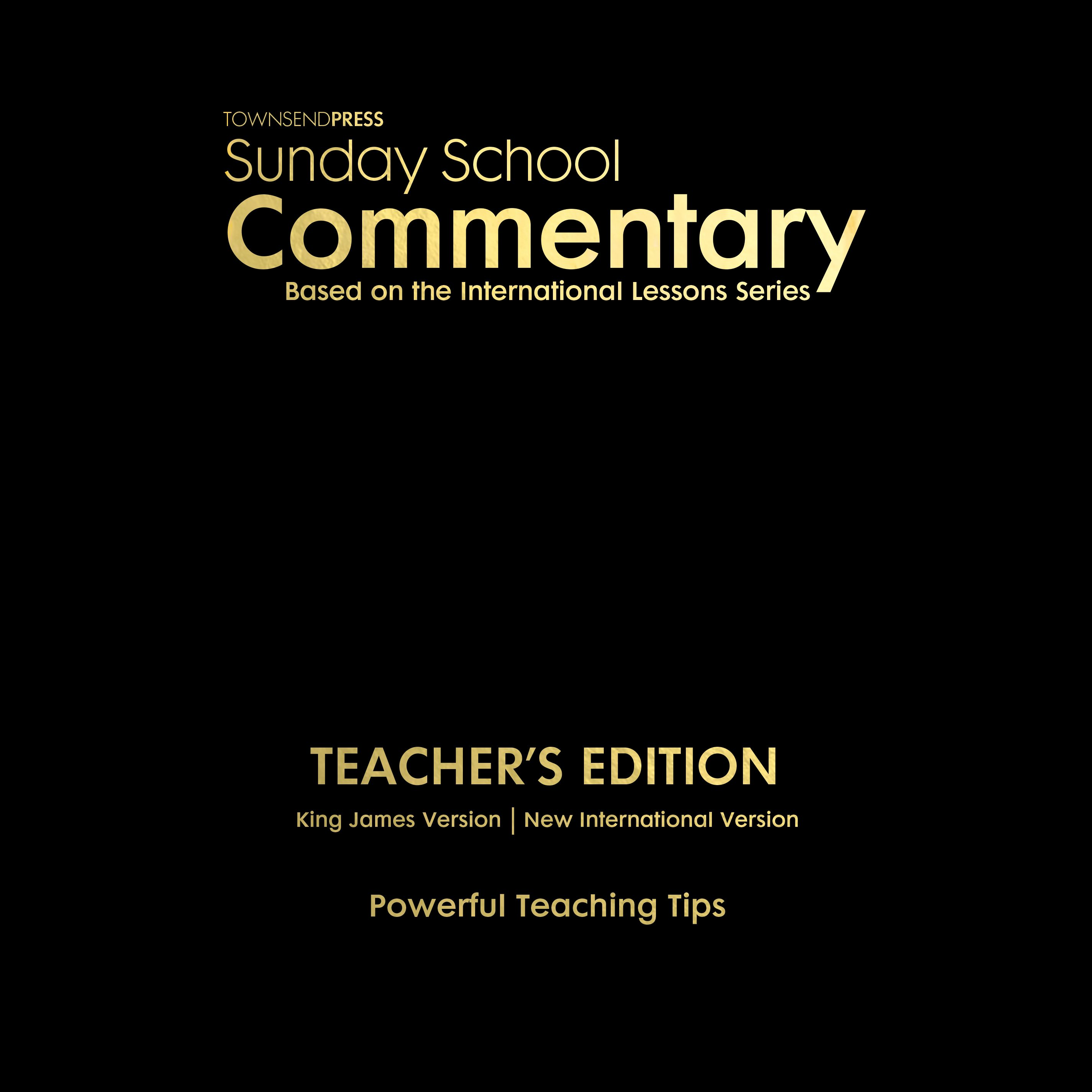 2018-2019 Townsend Press Sunday School Commentary Teacher's Edition