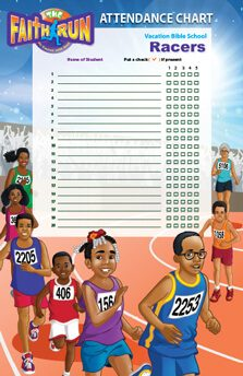 VBS The Faith Run 2017 Attendance Chart