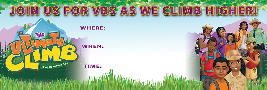 VBS Ultimate Climb! Outdoor Vinyl Banner
