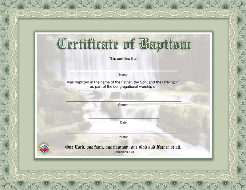 Baby Dedication Certificate  Sunday School Publishing Board