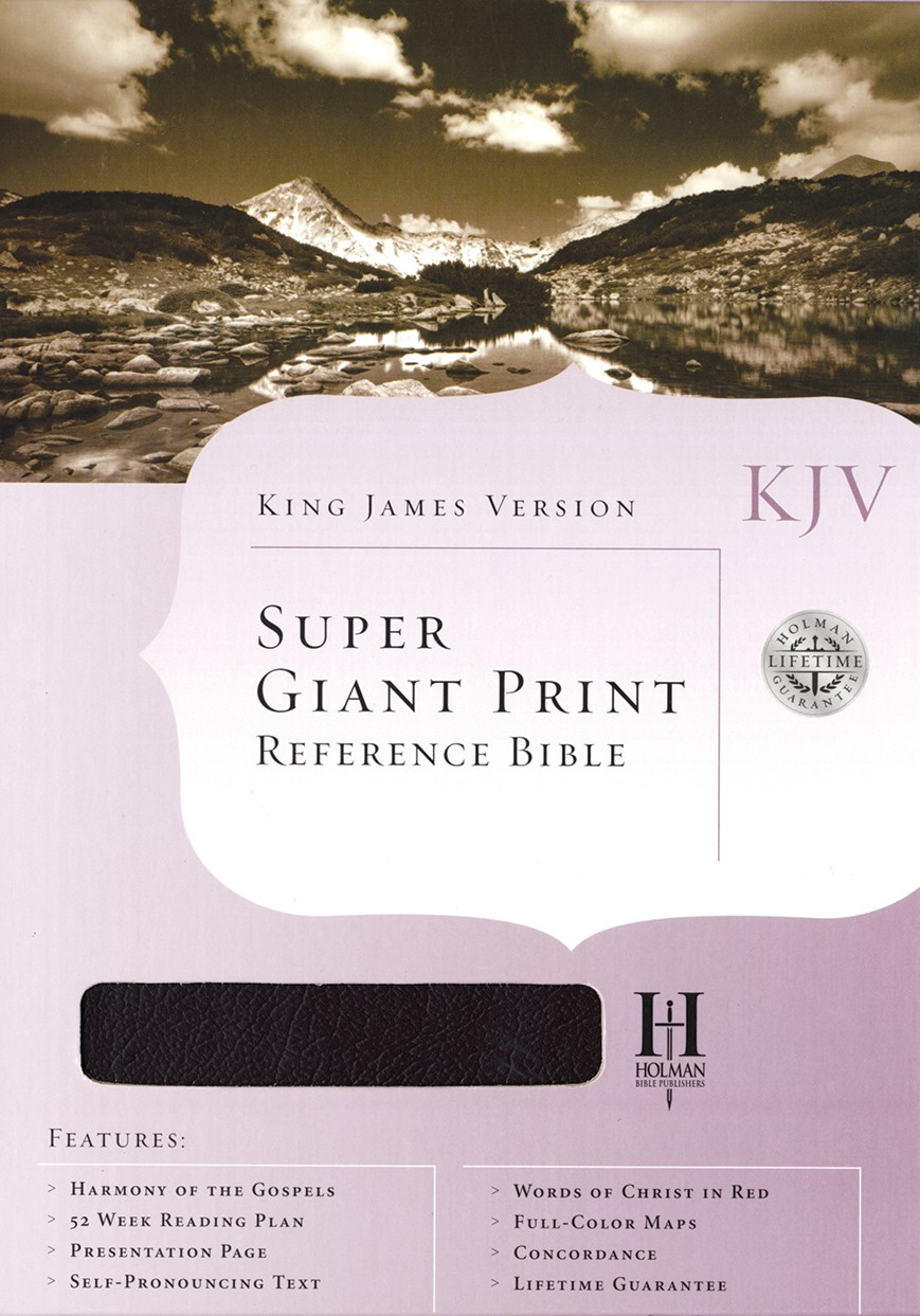 Holman Super Giant Print Reference Bible (Burgundy)