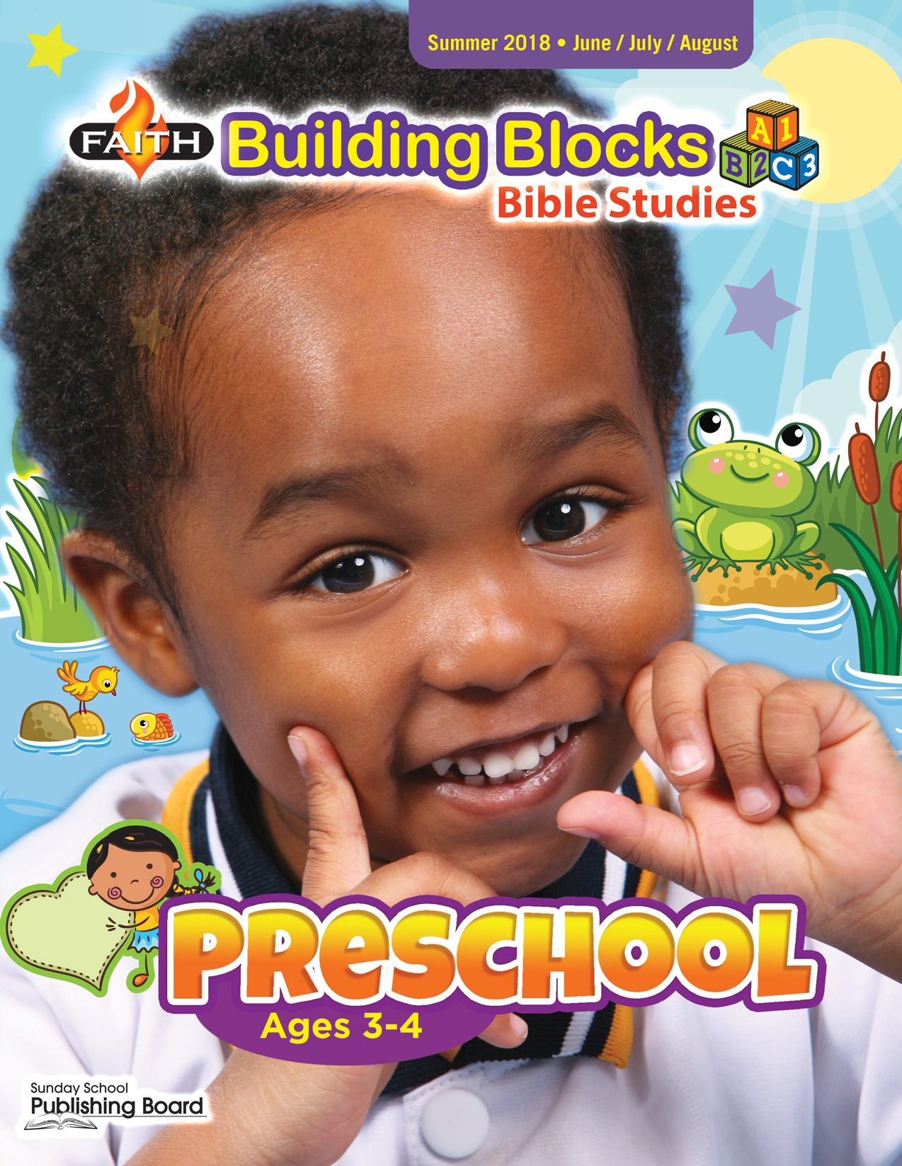 Faith Building Blocks Bible Studies, Preschool for Ages 3-4 (Summer 2018)-Digital Edition