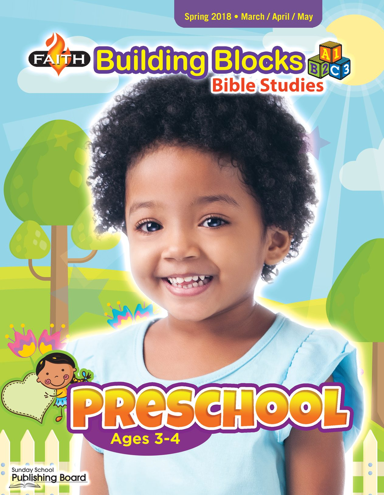 Faith Building Blocks Bible Studies, Preschool for Ages 3-4 (Spring 2018)-Digital Edition