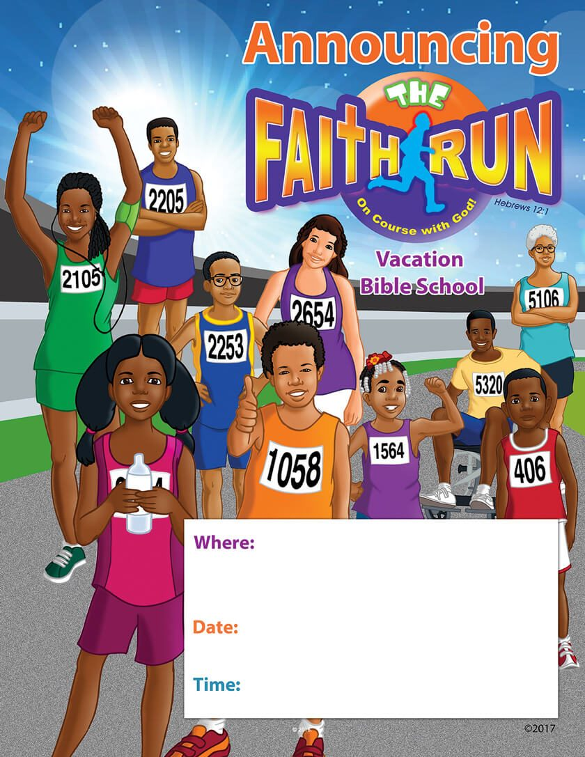 VBS The Faith Run Announcement Poster