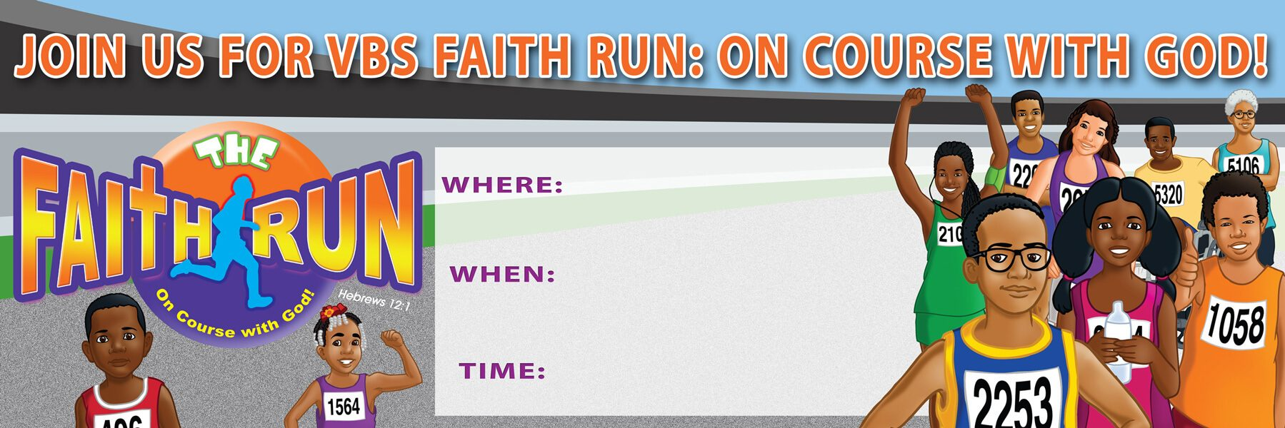 VBS The Faith Run Outdoor Vinyl Banner