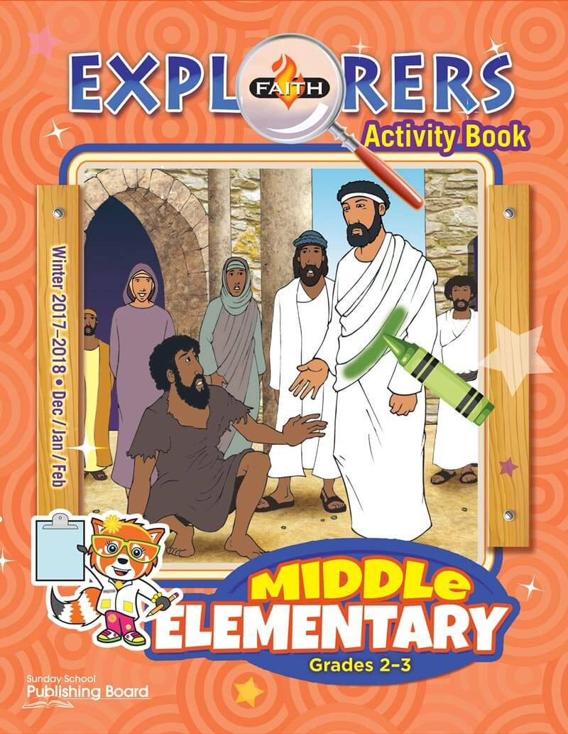 Faith Explorers Activity Book, Middle Elementary for Grades 2-3 (Winter 2017)-Digital Edition