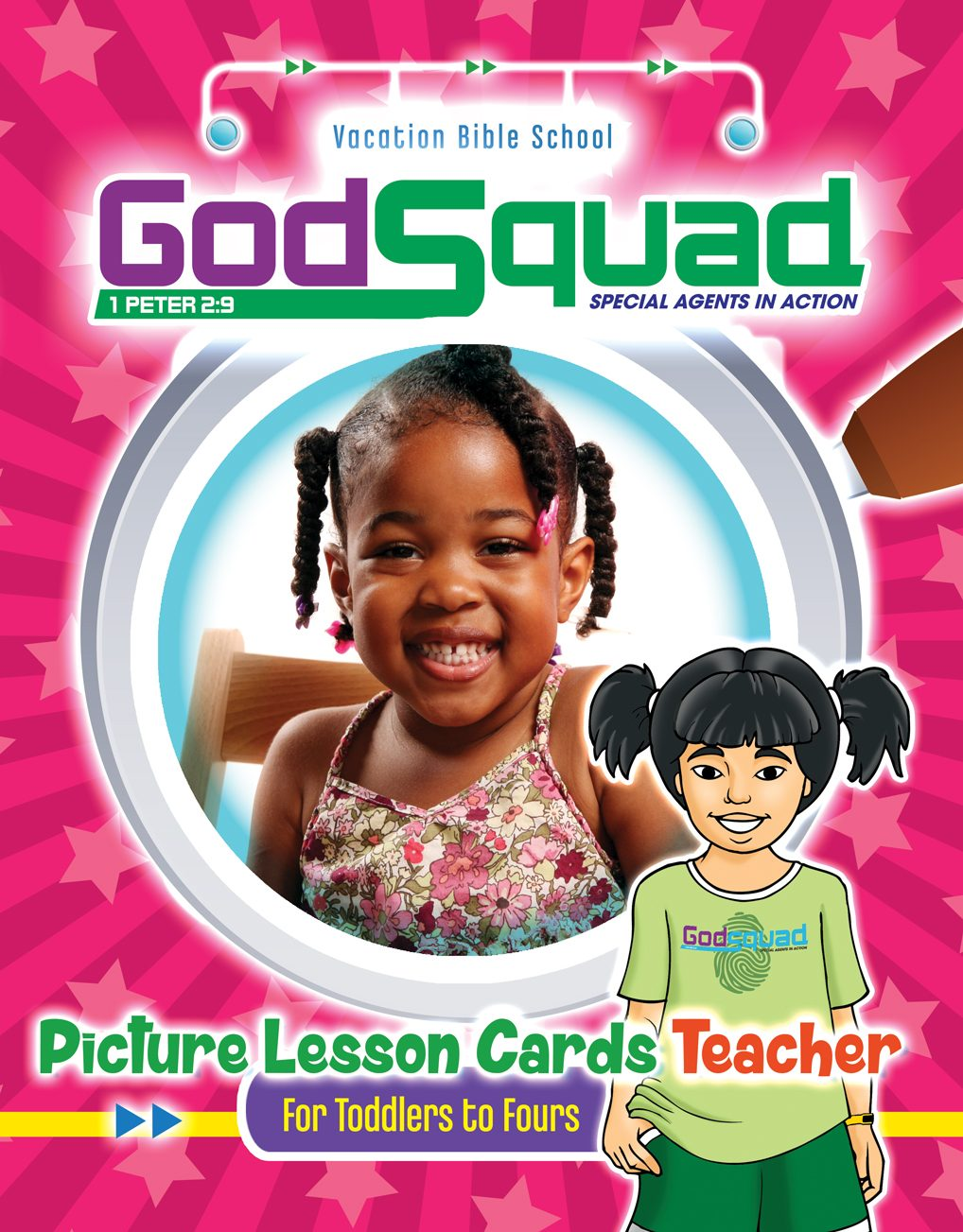 VBS GodSquad Picture Lesson Cards Teacher 2018