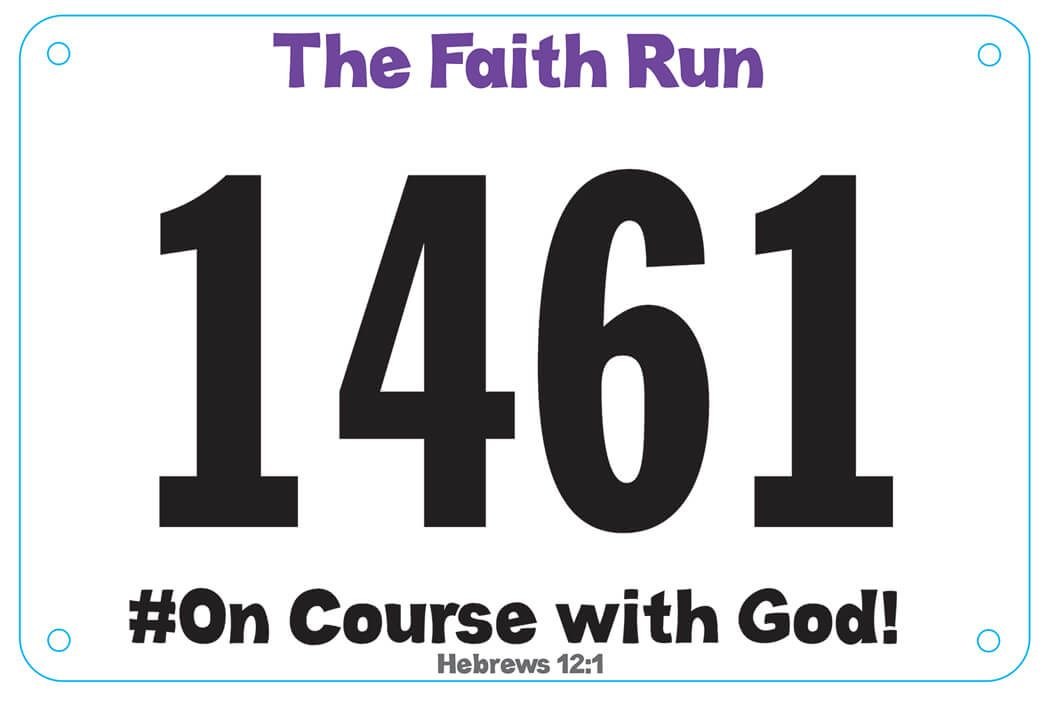 VBS Faith Run Runner Bib
