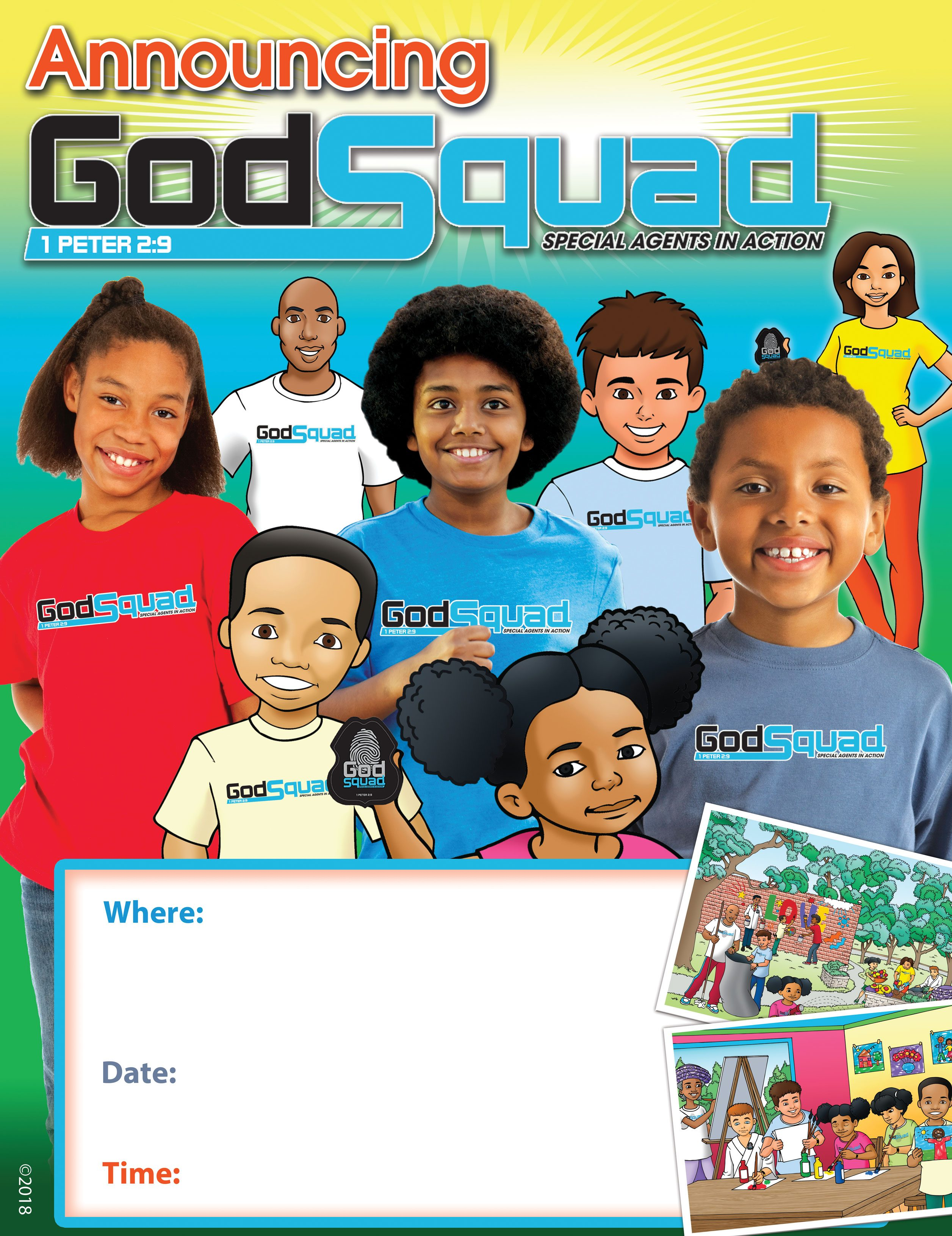 VBS GodSquad Announcement Poster