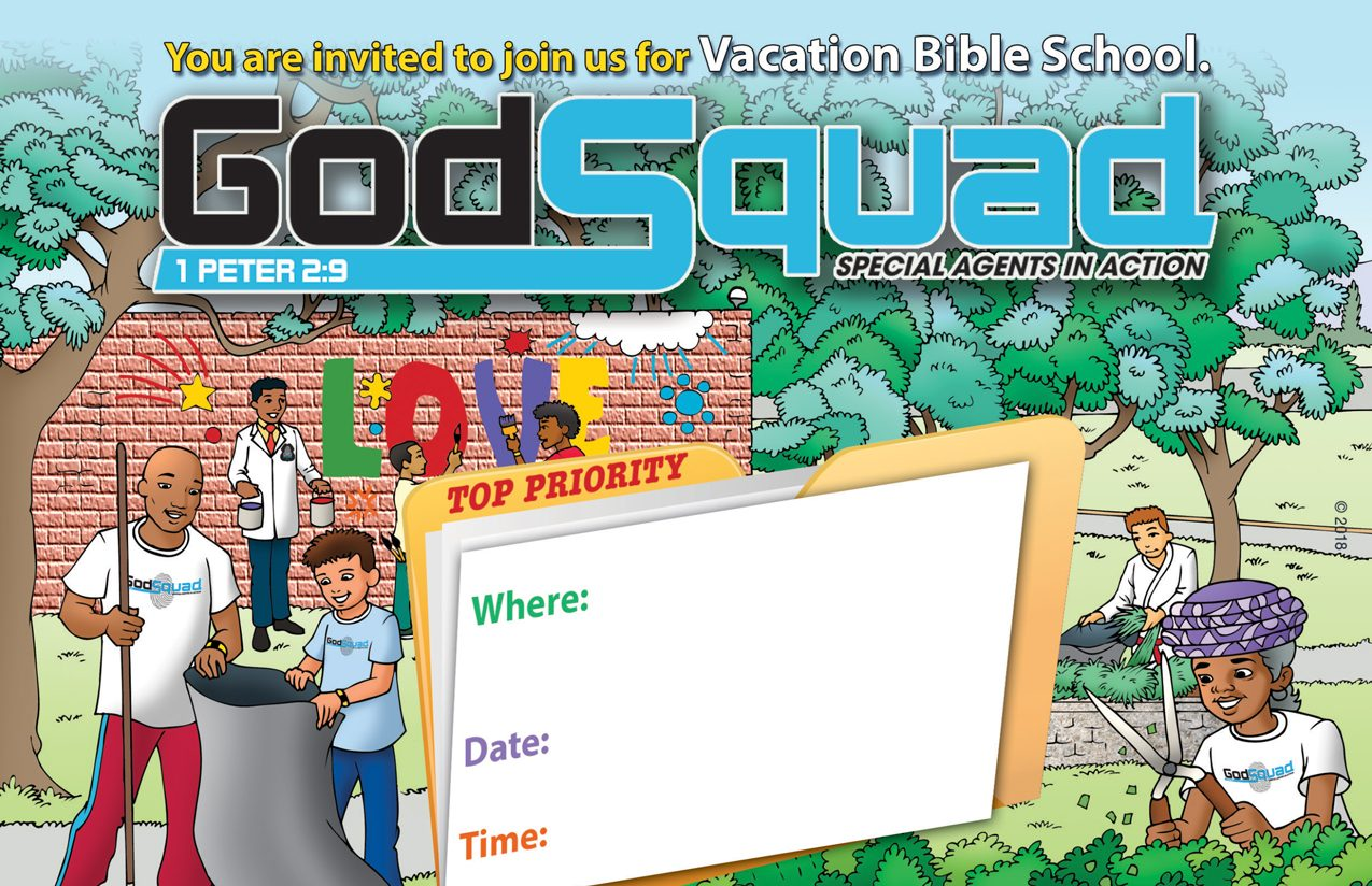 VBS GodSquad Invitation to Attend
