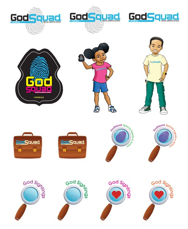 VBS GodSquad Sticker Sheets